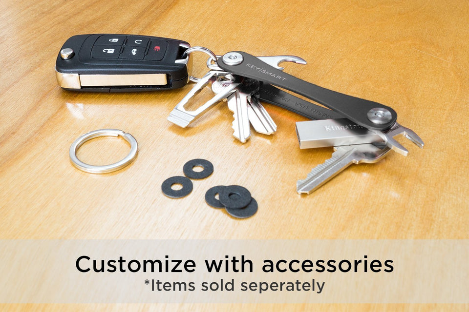Compact Key Holder and Keychain Organizer