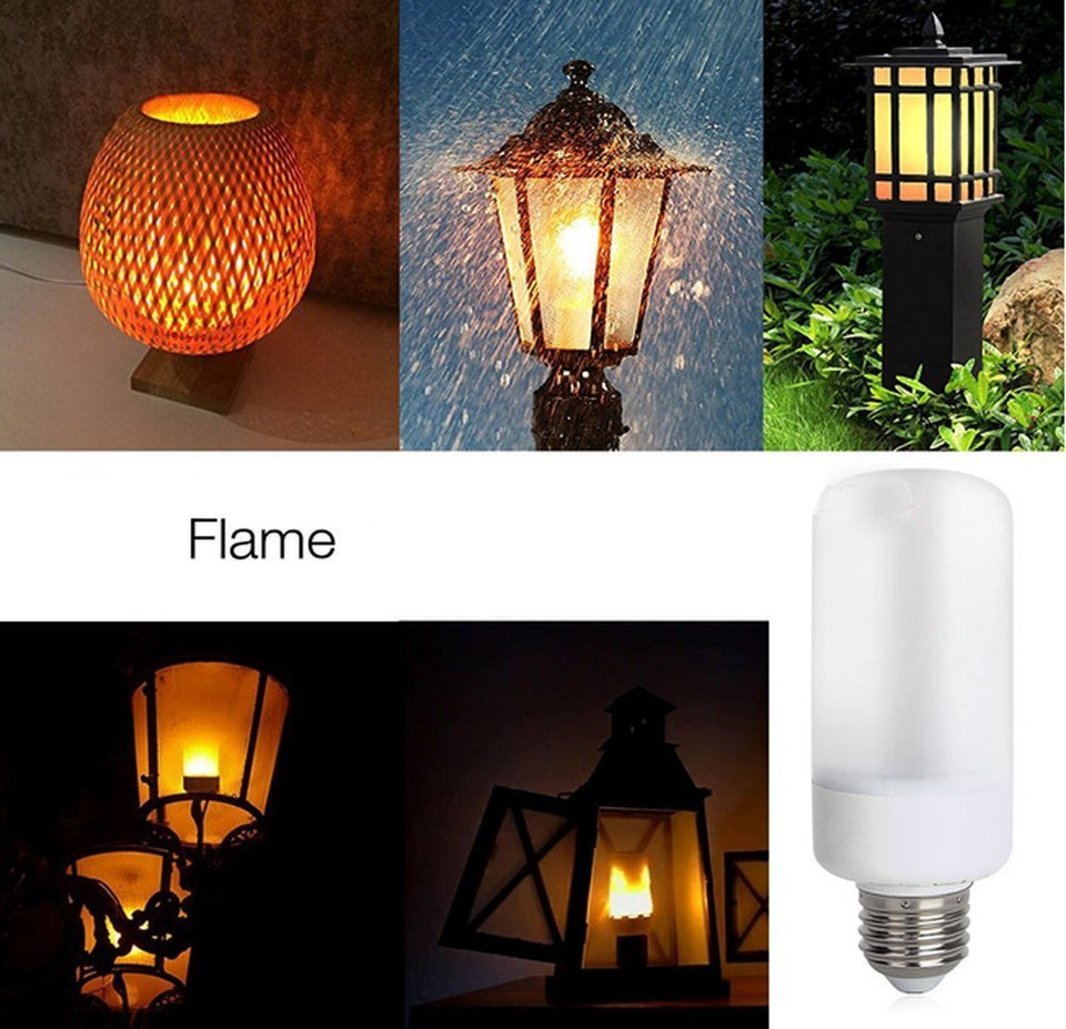 LED Flameless Simulated Fire - Flicking Flame Effect Light Bulb - Indoor Outdoor