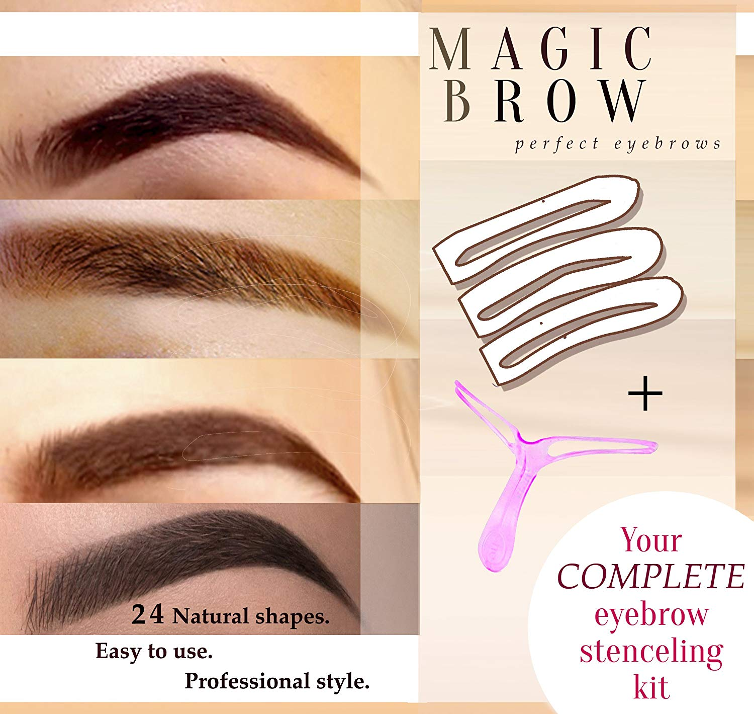 Eyebrow Stencils Eyebrows Grooming Stencil Kit Shaping Templates Diy