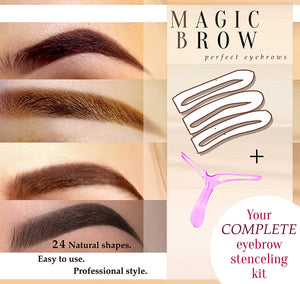 Eyebrow Stencils Eyebrows Grooming Stencil Kit Shaping Templates DIY Tools-24