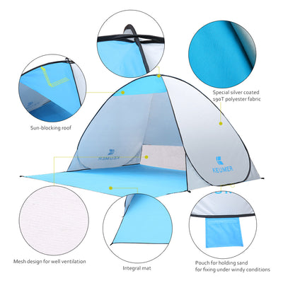 Camping Fishing Automatic Awning Tents Ship