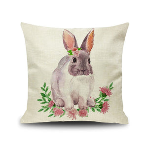 Bunny Pillowcase Happy Easter Decorations For Home Easter Rabbit Eggs Pillow Cover