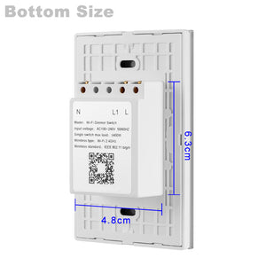 Wireless Smart Light Dimmer In Wall Power Switch Touch Control