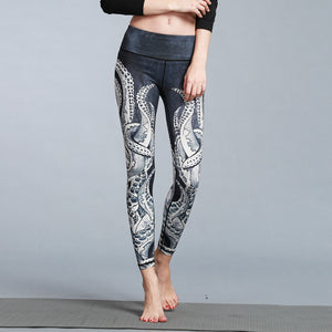 Women's Sport/Yoga Sea Giant Printed Legging