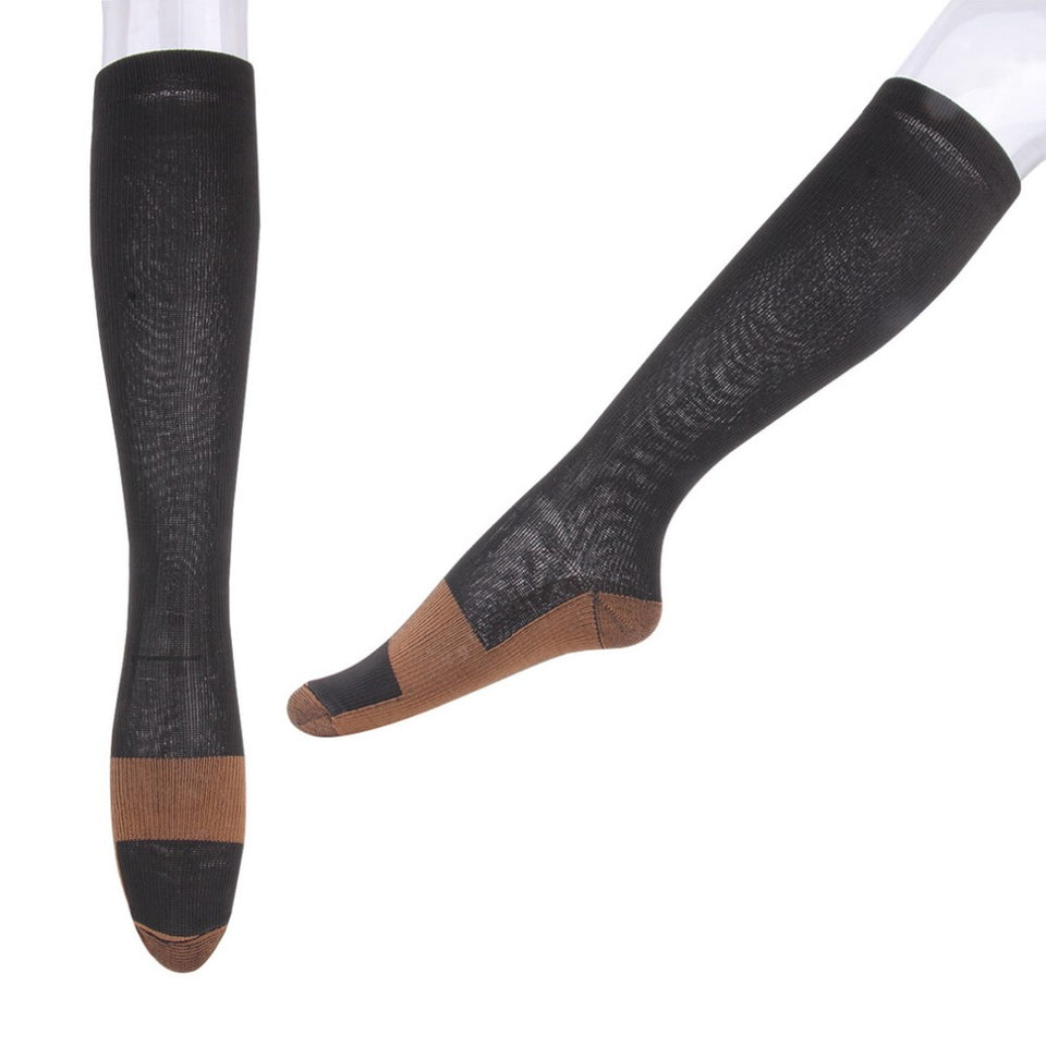 Unisex Anti-Fatigue Compression Socks Foot Pain Relief Soft Miracle Copper Anti Fatigue Magic Socks Support Knee High Stockings