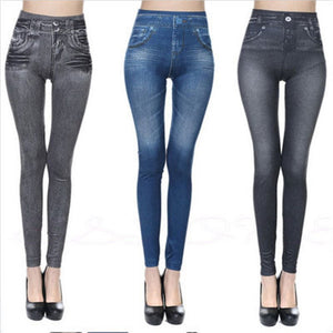 Women Slimming Push Up Jeans Leggings