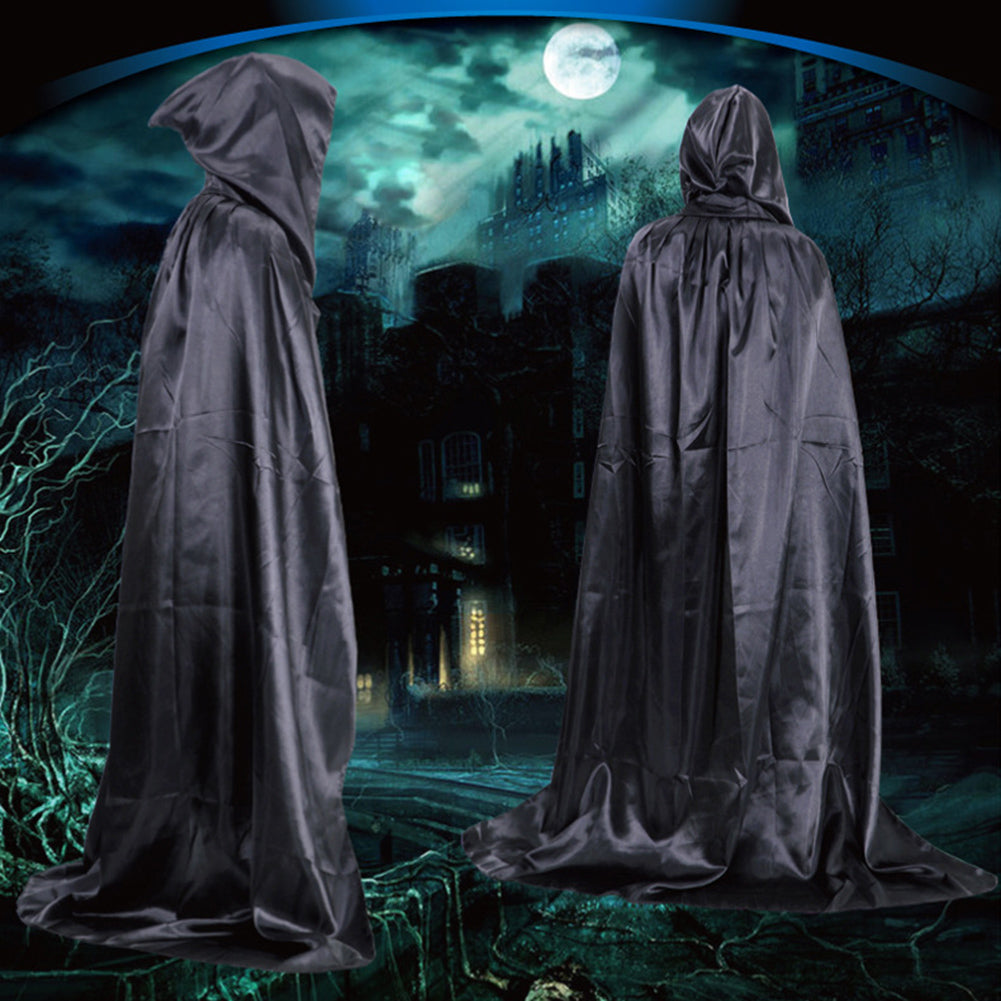 Hooded Black Cloak Halloween Costumes
