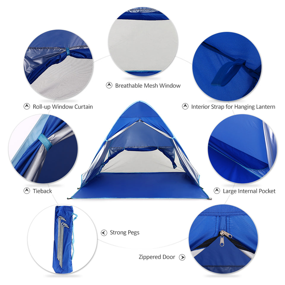 Outdoor Camping Automatic Tent With UV Protection
