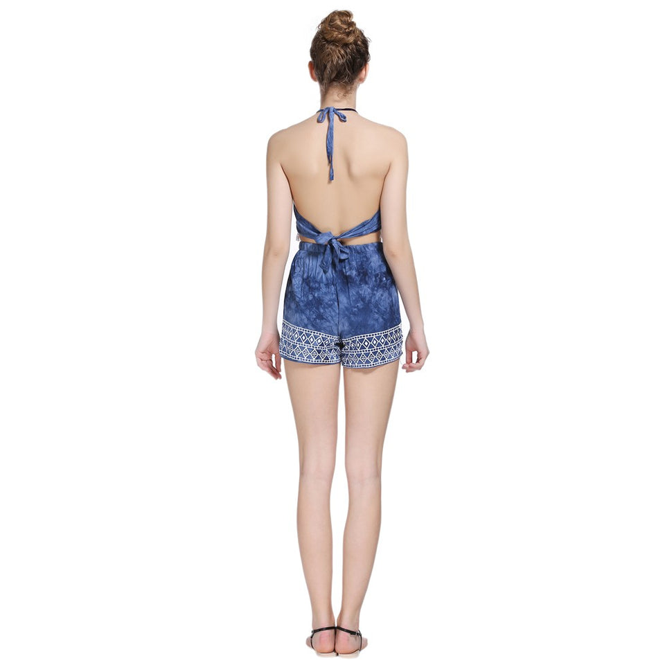 Elephant Printing Tassel Decoration Swimsuit