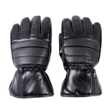 Leather Electric Heated Winter Windproof Ski Cycling Gloves
