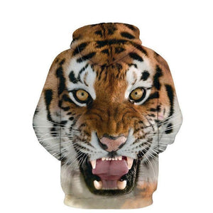 3D Tiger Lion Unisex Hoodies