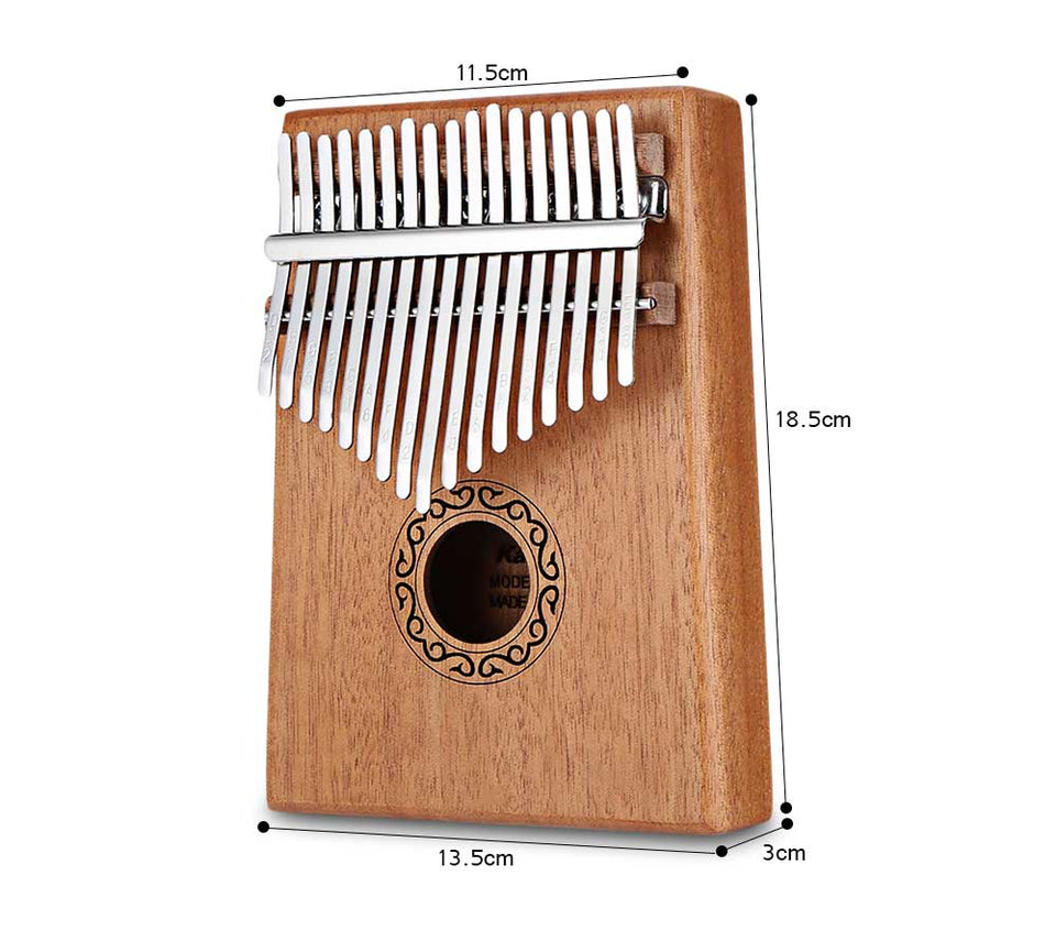 17 Keys Kalimba Thumb Piano High-Quality Wood Mahogany Body Musical Instrument With Learning Book & Tune Hammer