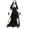 Halloween Nun Cosplay  Black Vampire  Costume For Women
