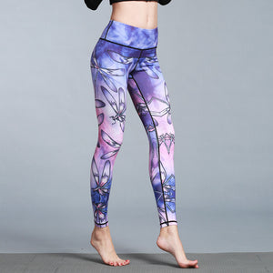 Women's Sport/Yoga Sea Marble Printed Legging