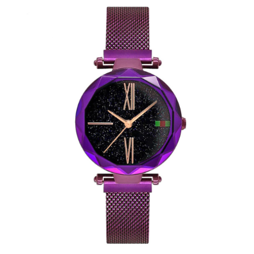 Luxury Women Watches Minimalism Starry sky Magnet Buckle