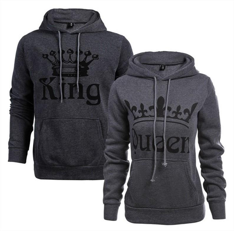 """Gray - King Queen Hoodies"""