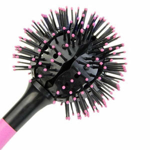 3D Spherical Comb Japan Lucky Bomb Curl Full Round Hot Curling Styling Brush