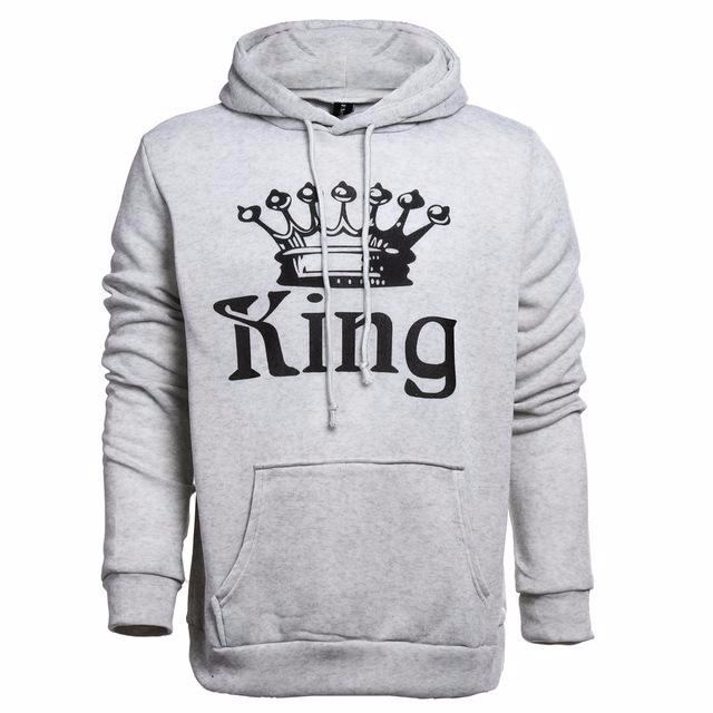 """White - King Queen Hoodies"""