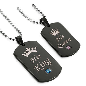 """King & Queen Tags"" Necklace"