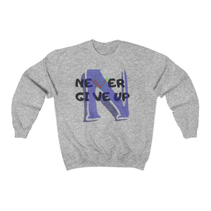 Men's Heavy Blend™ Crewneck Sweatshirt - Never Give Up Sweatshirt Printify Sport Grey L