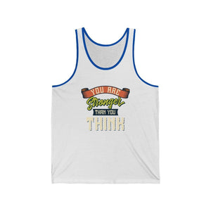 Men's Jersey Tank Tank Top Printify White/True Royal XS