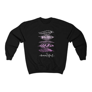 Men's Heavy Blend™ Crewneck Sweatshirt - Life Is Beautiful Sweatshirt Printify Black L