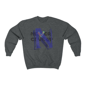 Men's Heavy Blend™ Crewneck Sweatshirt - Never Give Up Sweatshirt Printify Dark Heather S