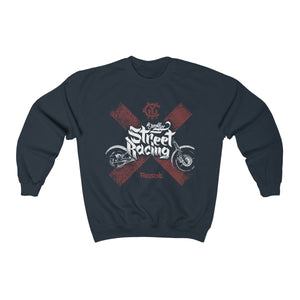 Men's Heavy Blend™ Crewneck Sweatshirt - Street Racing Sweatshirt Printify Navy S