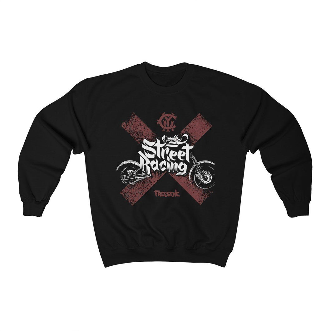 Men's Heavy Blend™ Crewneck Sweatshirt - Street Racing Sweatshirt Printify Black L