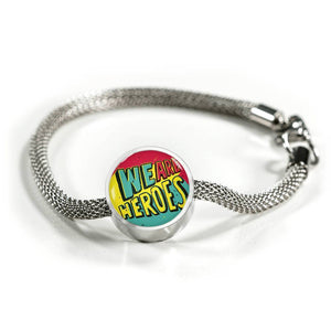 We Are Heroes - Charm Bracelet Circle Charm ShineOn Fulfillment S/M Bracelet & Charm No