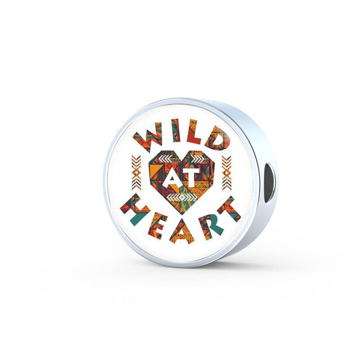 Wild At Heart – Charm Bracelet Circle Charm ShineOn Fulfillment