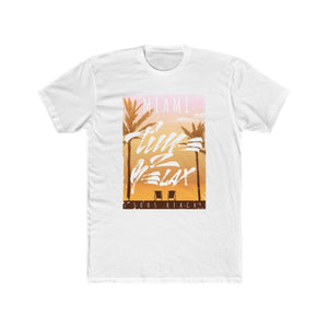 Men's cotton crew tee – MIAMI T-Shirt Printify Solid White L