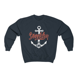 Men's Heavy Blend™ Crewneck Sweatshirt - Brooklyn Sweatshirt Printify Navy S