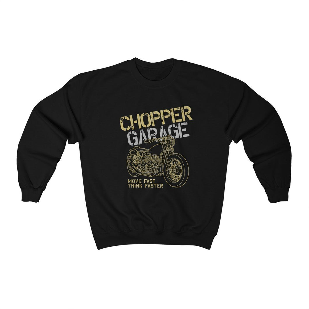 Men's Heavy Blend™ Crewneck Sweatshirt - Chopper Garage Sweatshirt Printify Black L