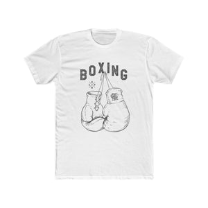 Men's Cotton Crew Tee – Boxing T-Shirt Printify Solid White L