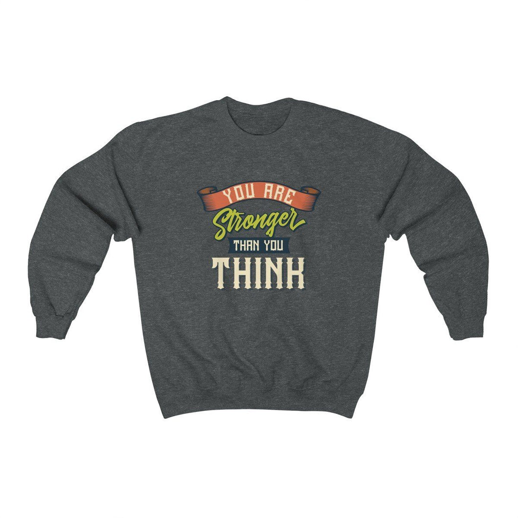 Men's Heavy Blend™ Crewneck Sweatshirt - You are stronger than you think Sweatshirt Printify Dark Heather L