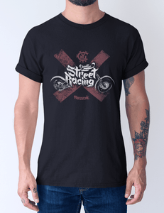 Men's Cotton Crew – Brooklyn Street Racing T-Shirt Printify