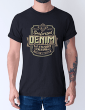 Men's Cotton Crew – Denim T-Shirt Printify