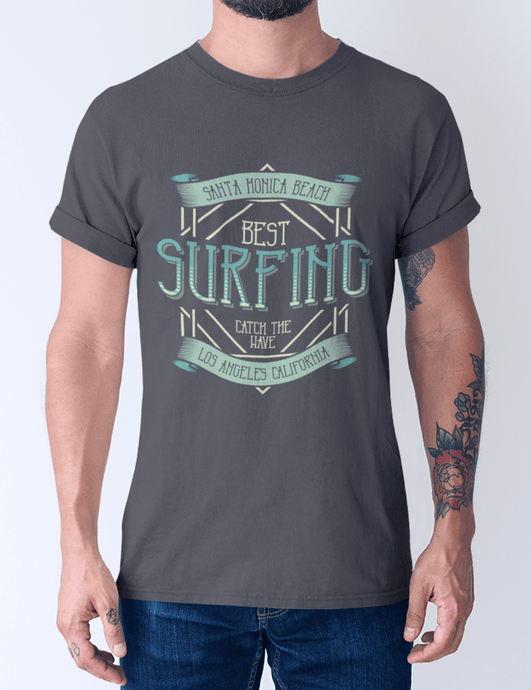 Men's Cotton Crew Tee – Surfing T-Shirt Printify
