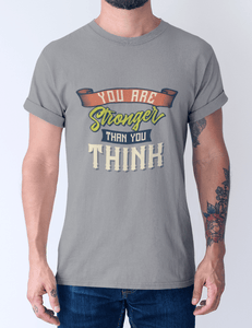 Men's Cotton Crew Tee – You are stronger than you think T-Shirt Printify