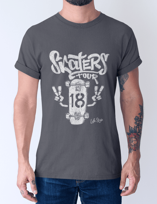 Men's cotton crew tee – Skaters Tour T-Shirt Printify