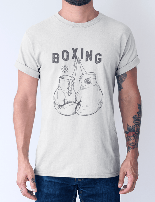 Men's Cotton Crew Tee – Boxing T-Shirt Printify