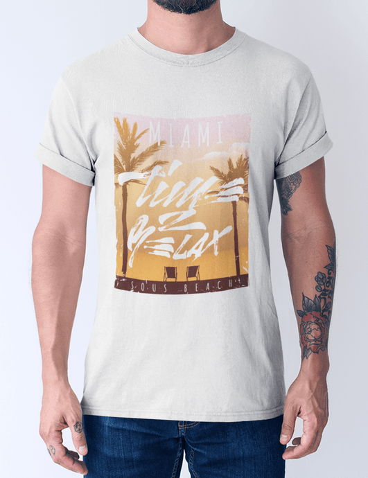 Men's cotton crew tee – MIAMI T-Shirt Printify