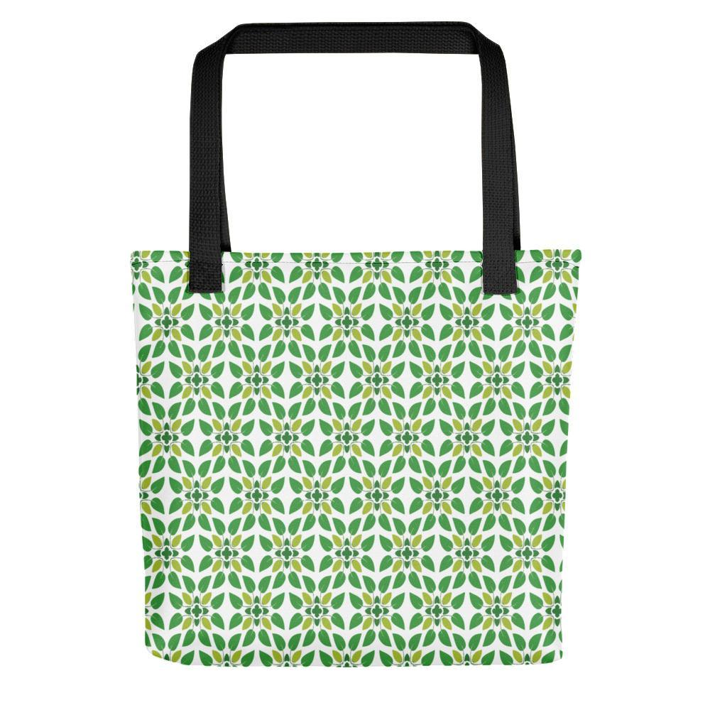 Tiny Green Leaves Printed Tote Bag Stoneage Fashion Club Default Title