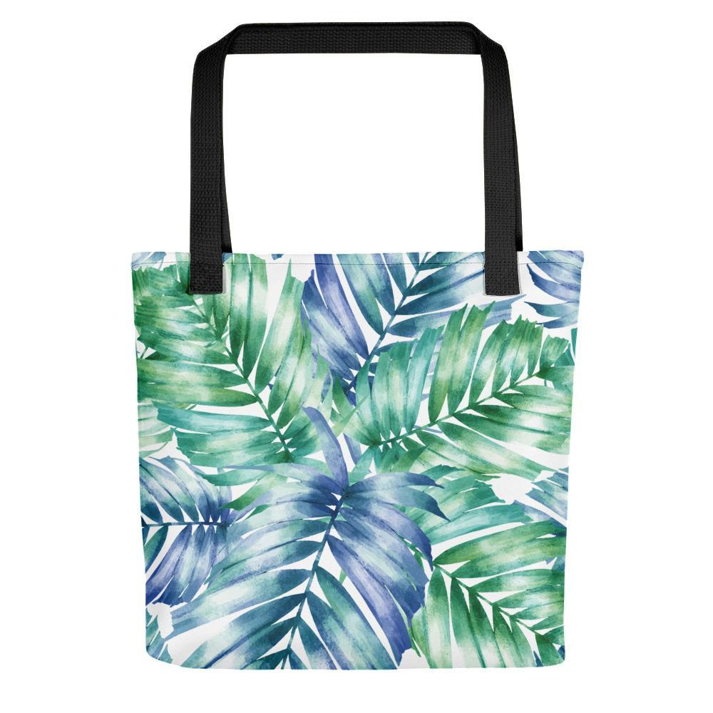 White, blue and turquoise printed stylish tote bags Stoneage Fashion Club Default Title