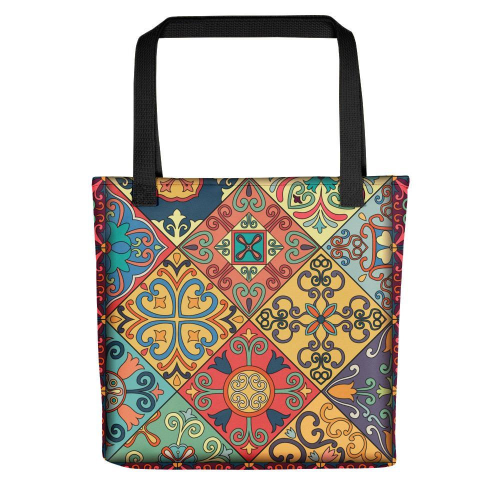 Multihued exotic printed tote bag Stoneage Fashion Club Default Title