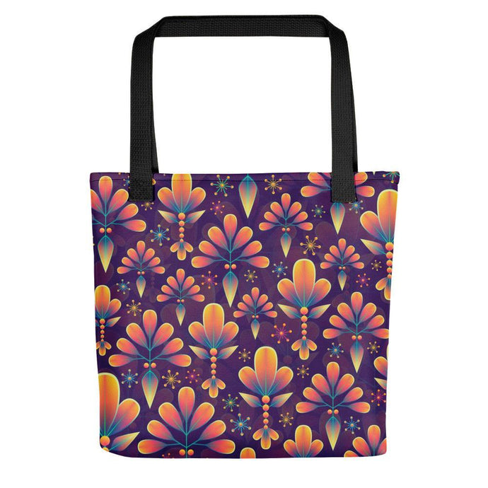 Beautiful Floral Print Tote Bag Stoneage Fashion Club Default Title