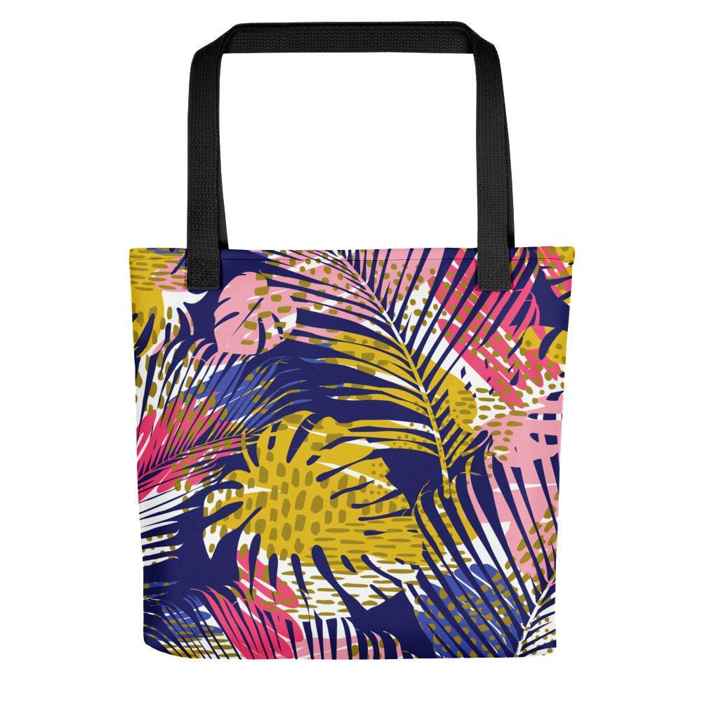 Leaf printed multicolored tote bag Stoneage Fashion Club Default Title