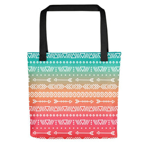 Beautiful Aztec Pattern Printed Tote Bag Stoneage Fashion Club Default Title