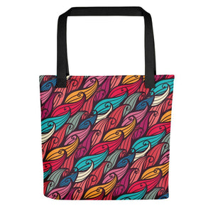 Floral printed multicolored stylish tote bag Stoneage Fashion Club Default Title